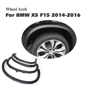 Fit For BMW X5 F15 2014-2016 Wheel Arch Side Fender Flares Molding Trim 4PCS