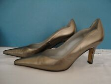 "PETER KAISER ""TAMILA"" BRONZE LEATHER COURT SHOE SIZE 38.5 UK 5.5 US 7  FREE POST"