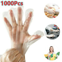 1000PCS Disposable Plastic Clear Gloves Food Prep Cooking Cleaning Home Healty