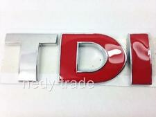 TDI Chrome Red Badge Emblem Logo for VW Polo Golf Passat Jetta Vento Fox Lupo