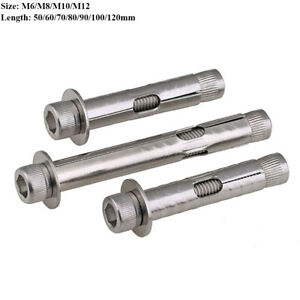 Hex Allen Socket Cap Head Concrete Expansion Bolts M6 - M12 Stainless Steel 304