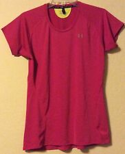 UNDER ARMOUR Heat Gear Hot Pink T-Shirt Size S Fitted