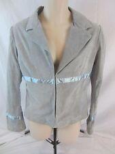 Wilsons Leather Maxima Blue Suede Leather Jacket Coat - Women's Large - 1466