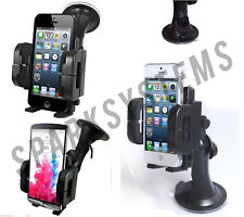 UNIVERSAL IN CAR MOBILE PHONE GPS MOUNT HOLDER CARRIER CRADLE D.LOCKING SUCTION