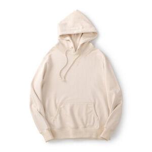 Men 100% cotton Hoodie Fashion Sweater Workout Top Casual Hooded Coat Sweatshirt