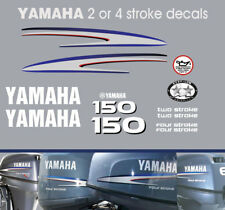 YAMAHA 150hp 2 stroke and 4 stroke outboard decals
