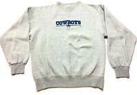 Majestic Dallas Cowboys NFL Football Mens Gray Long Sleeve Sweatshirt Size Small