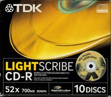 TDK CD-R Lightscribe 10psc Jawel Case CD