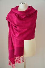 Pashmina Schal Tuch Stola Paisley gewebt 100% Viskose Pink ca.190x70cm