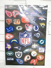 NFL Football Multi Autocollant XL Decal Insigne 32er Set Tous Equipes Neuf