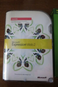 Microsoft Expression Web 2 upgrade,disc,manual,professional web design tool