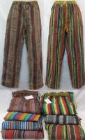 Pants Stripped Gary heavy cotton hippy Mens Nepal Unisex winter pants