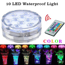 10leds RGB Led Underwater Light Submersible Waterproof Swimming Pool Light AAA