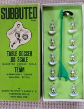 Vintage Subbuteo Table Soccer 00 Scale Players Old Heavyweight Team Man City