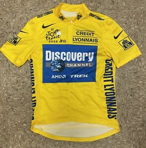 Nike Medium Discovery Channel Cycling Yellow Jersey 2005 Lance Armstrong