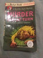 MURDER OUT OF TURN - FRANCES & RICHARD LOCKRIDGE - POCKET BOOKS #376 - 1947