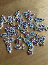 Nuevo-Selección de 15 botones con temática Hermosa Princesa estrellas varitas - 25mm