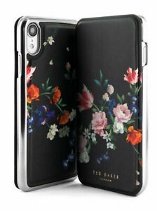 Ted Baker® SSABINA Luxury Floral Case for iPhone XR Sandalwood / Black Silver