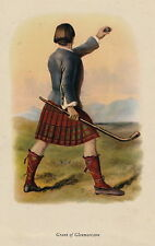 Antique Portrait Art Print by McIAN Scottish Clan GRANT Glenmoriston Gift Matted