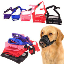 New Hot Pet Dog Adjustable Mask Bark Bite Mouth Muzzle Grooming Anti Chew Stop
