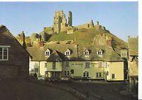 Dorset Postcard - Corfe Castle and The Village Square   SM33