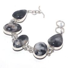 Pinolith Gemstone Ethnic Jewelry Handmade Bracelet 34 Gms Rb-16735