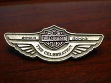 HARLEY-DAVIDSON 100th ANNIVERSARY THE CELEBRATION 1903 - 2003 PIN BACK