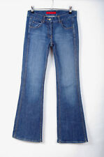 P616/49 FCUK Blue Cotton Stretch Bootcut Leg Jeans, UK 10 Tall
