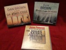 Audio book bundle-The Da Vinci Code and Angels/Demons, and Private London.