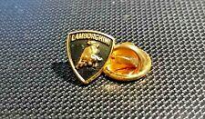Lamborghini Pin Logo Golden Varnished 2000er Years Original - Dimensions