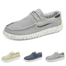 Mens Canvas Pumps Driving Moccasins Shoes Slip on Loafers Flats Breathable New D