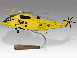 Westland Sea King RAF Rescue Solid Mahogany Handmade Desktop Helicopter Model
