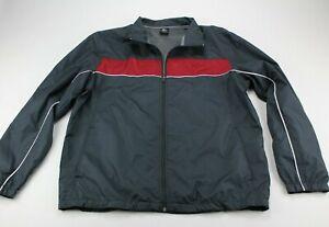 Starter Vintage Men's Gray Red Tracksuit Zip Up Jacket EUC Greystone Sz L 42-44