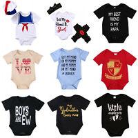 Summer Infant Baby Boy Girl Cotton Romper Bodysuit Jumpsuit Clothes Outfits Set