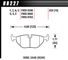 Hawk Disc Brake Pad Rear for 97-03 BMW 525i / 530i / 540i / 328Ci / 528i / 323i