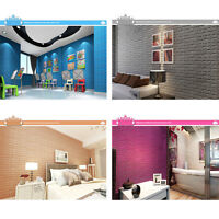3D Brick Wall Sticker Self-Adhesive PE Foam Wallpaper Panels Room Decal 70x77CM