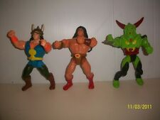 ACTION FIGURES 3 CONAN THE BARBARIAN SKULLKUR WRATH AMON STRING ACTION HASBRO 92