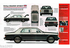 Rolls-Royce Silver Spirit II Spec Hoja / Folleto: 1990 ,