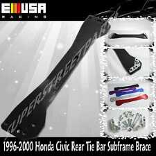 EMUSA 96-00 Honda Civic Rear Lower Tie Bar Subframe Brace EK LX DX EX SI  BLACK