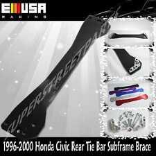 EMUSA 1996-2000 Honda Civic Rear Tie Bar Subframe Brace EK LX DX EX SI  BLACK