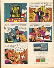 1971 Vintage ad for Doral Cigarettes`Art Cartoon Magician Tobacco (061017)