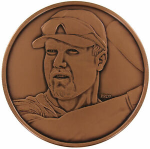 St. Louis Cardinals Mark McGwire 1/2 Troy Pound Solid Antiqued Copper Coin