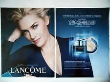PUBLICITE-ADVERTISING :  LANCOME Visionnaire Nuit [2pages] 2015 Kate Winslet
