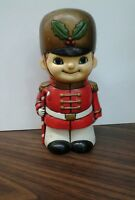 Rare Vintage Christmas Soldier Bank by Around the World Japan