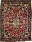 Red Traditional Semi Antique Floral Design 10X13 Oriental Rug Vintage Carpet