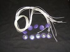 UPHOLSTERY BUTTONS.WIRE LOOP BACK+LENGTH OF TWINE 12 X NO36 PURPLE VINYL/FAUX