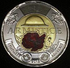 "2018 CANADA RED ARMITICE COIN 100TH ANNIV. OF WW1 ""REMEMBERANCE DAY"" WAR VETERAN"