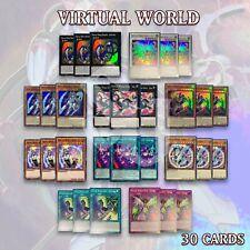 VIRTUAL WORLD DECK 30 | Longlong Jiujiu Nyannyan Jaja Laolao Lili PHRA YuGiOh