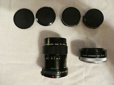 CANON 50mm f3.5 FD MANUAL FOCUS MACRO LENS WITH FD-25 1:1 EXT. TUBE VERY NICE