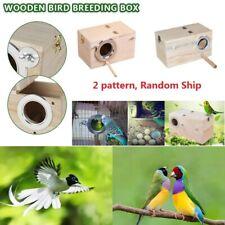 Wooden Nesting Nest Box Clear View Bird House Small Birds Blue Tit Robin Sparrow